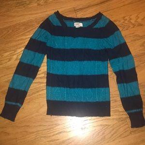 Blue sparkle V neck Sweater